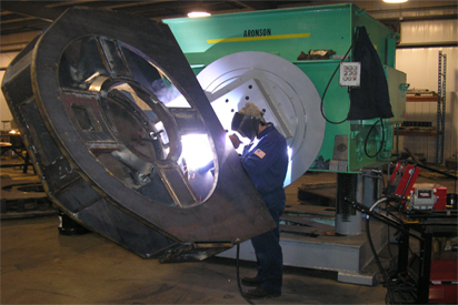 Welding using Multi-Axis Positioner at Wisconsin Metal Fab, LLC