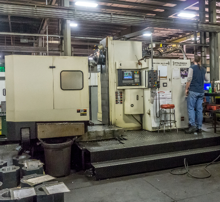 Horizontal Machining at Wisconsin Metal Fab